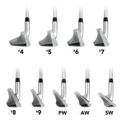 XDS Hybrid Irons showing shape of club from toe side
