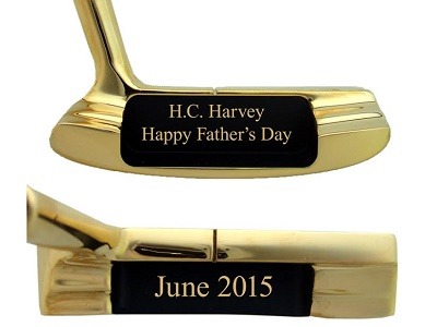 Personalized Brass Putter